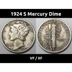 1924 S Mercury Dime -...