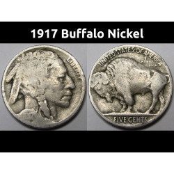 1917 Buffalo Nickel - Early...
