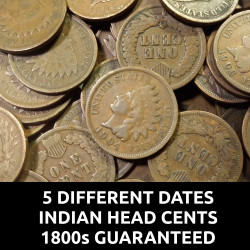 Lot of 5 Indian Head Cents...