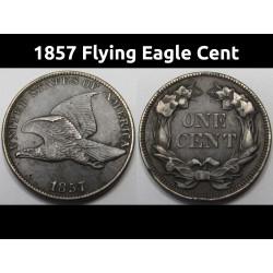 1857 Flying Eagle Cent -...