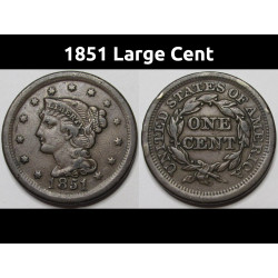 1851 Large Cent - Braided...