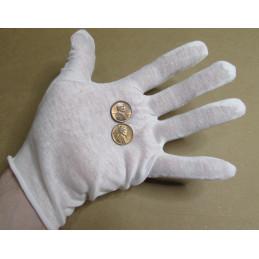Cotton lisle white gloves...