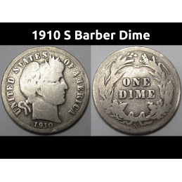 1910 S Barber Dime - old...