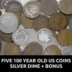Five 100 Year Old US Coins...
