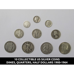 10 Old US silver coins...