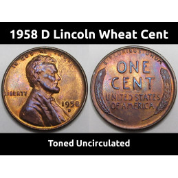 1958 D Lincoln Wheat Cent -...