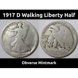 1917 D Walking Liberty Half...