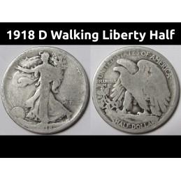 1918 D Walking Liberty Half...