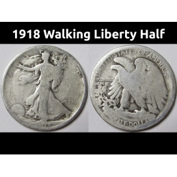 1918 Walking Liberty Half...