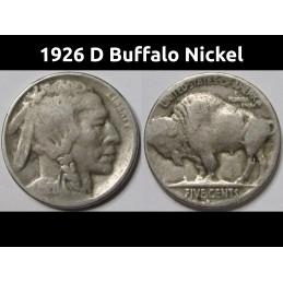 1926 D Buffalo Nickel - old...