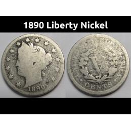 1890 Liberty Nickel - old...
