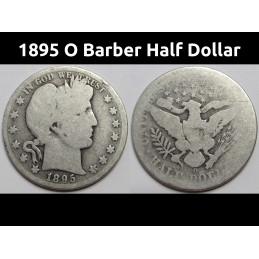 1895 O Barber Half Dollar -...