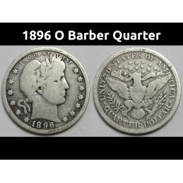 1896 O Barber Quarter - old...