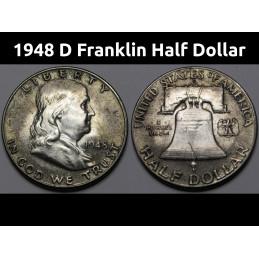 1948 D Franklin Half Dollar...