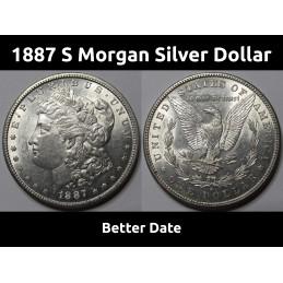 1887 S Morgan Silver Dollar...