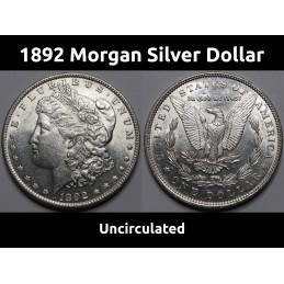 1892 Morgan Silver Dollar -...
