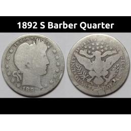 1892 S Barber Quarter -...