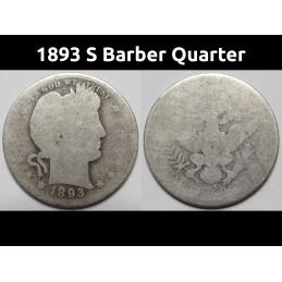 1893 S Barber Quarter -...