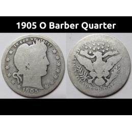 1905 O Barber Quarter - old...
