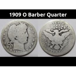 1909 O Barber Quarter -...
