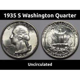 1935 S Washington Quarter -...