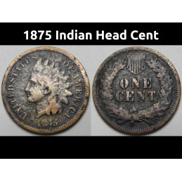 1875 Indian Head Cent -...
