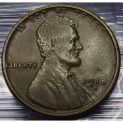 1918 D Lincoln Wheat Cent -...