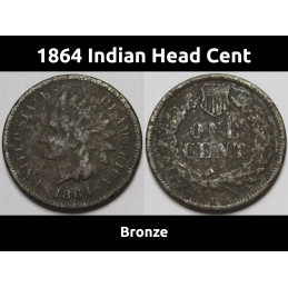 1864 Indian Head Cent -...