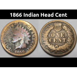 1866 Indian Head Cent -...