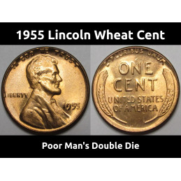 1955 Lincoln Wheat Cent -...