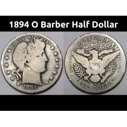 1894 O Barber Half Dollar -...