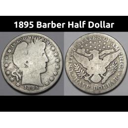 1895 Barber Half Dollar -...