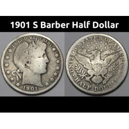 1901 S Barber Half Dollar -...