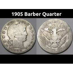 1905 (P) Barber Quarter -...