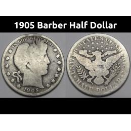 1905 Barber Half Dollar -...