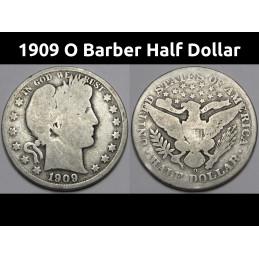 1909 O Barber Half Dollar -...