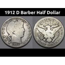 1912 D Barber Half Dollar -...