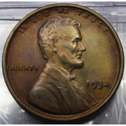 1934 Lincoln Wheat Cent -...