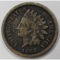 1863 Indian Head Cent - Good