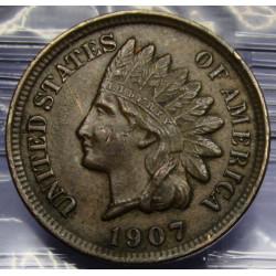 1907 Indian Head Cent - AU...