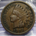 1909 Indian Head Cent - XF details