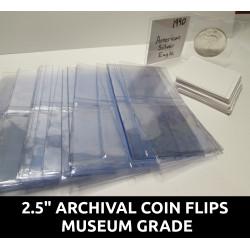 "Archival 2.5"" mylar plastic..."