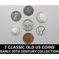 7 Classic old US coins...