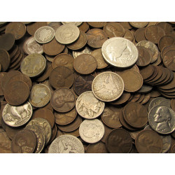 holiday gift 1 oz silver coin types 1900s-1964 10 50 US Coins Grab Bag