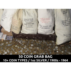 50 Coin Grab Bag - 1 ounce...