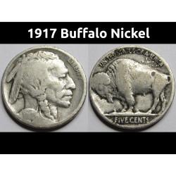 1917 Buffalo Nickel -...