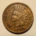 1905 Indian Head Cent - AU - pretty golden album toning
