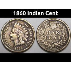 1860 Indian Head Cent -...