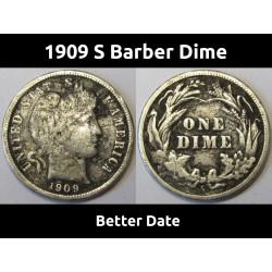 1909 S Barber Dime - better...
