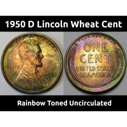 1950 D Lincoln Wheat Cent -...